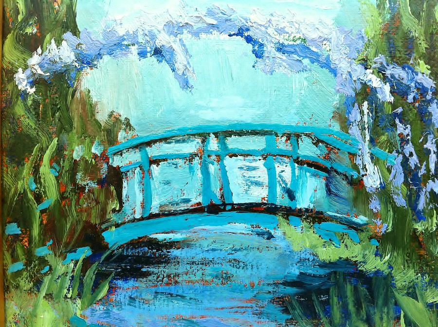 Monets Bridge Painting  - Monets Bridge Fine Art Print