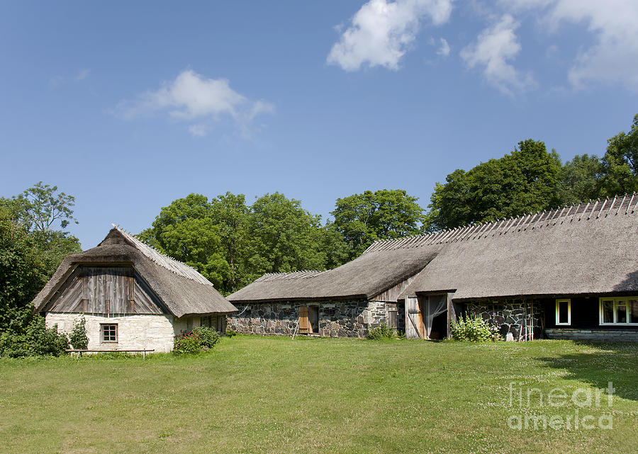 Muhu Museum Exterior In Estonia Photograph