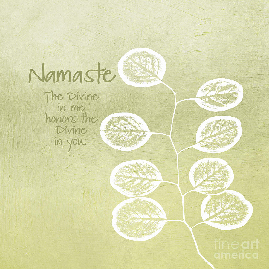 Namaste Mixed Media  - Namaste Fine Art Print