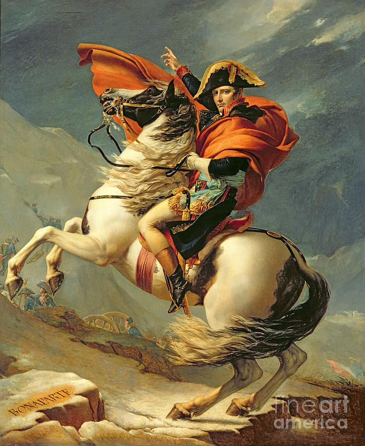 Napoleon Crossing The Alps On 20th May 1800 Painting