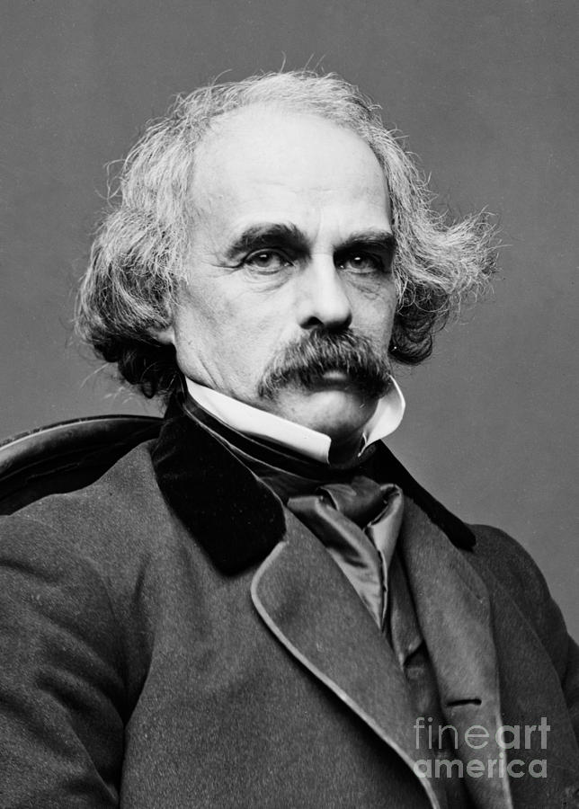 History Photograph - Nathaniel Hawthorne, American Author by Photo Researchers