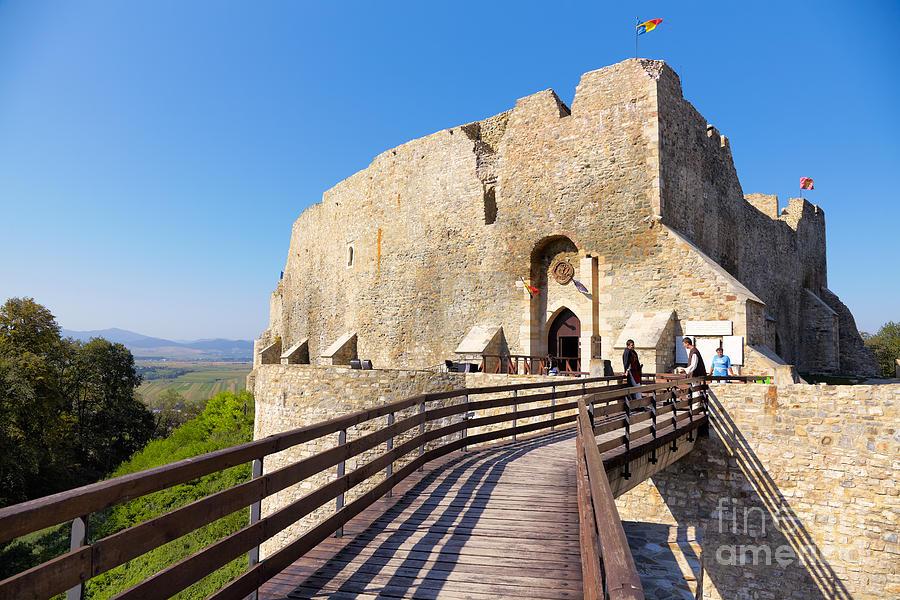 Neamt Castle Photograph - Neamt Fortress by Gabriela Insuratelu