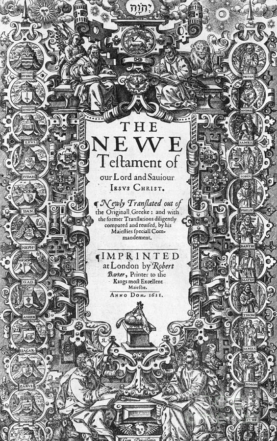 New Testament, King James Bible Photograph