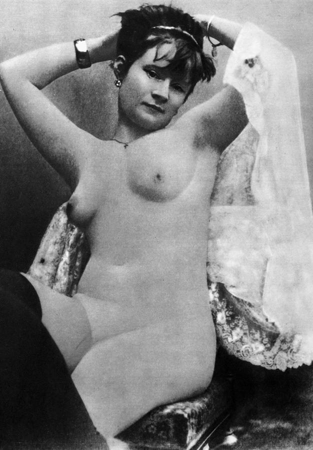 Nude Posing, C1888 Photograph