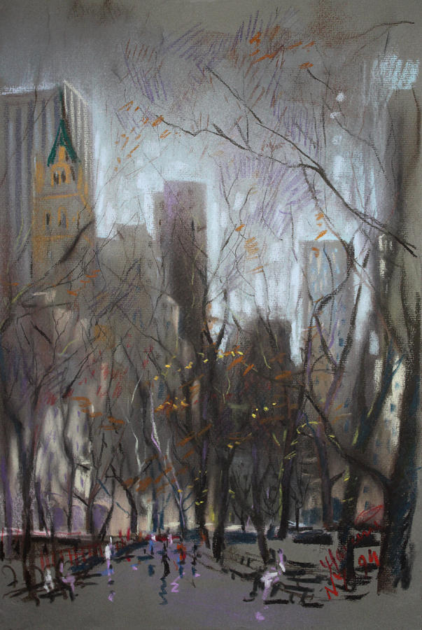 Nyc Central Park Pastel