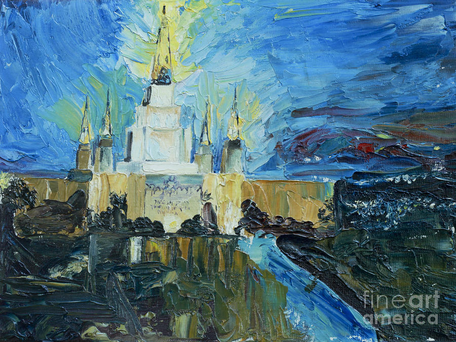 Oakland Temple Painting  - Oakland Temple Fine Art Print