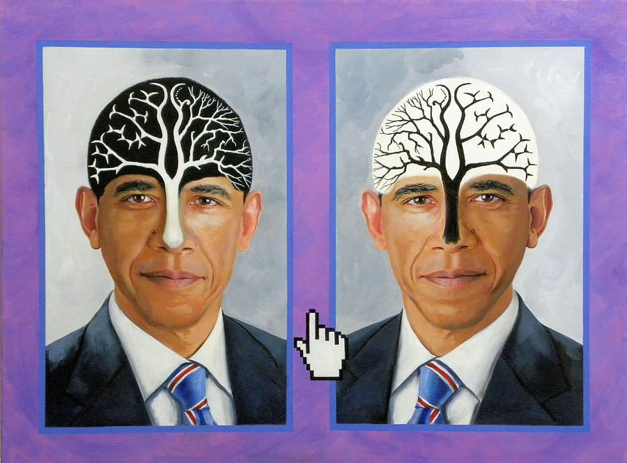 Obama Trees Of Knowledge Painting