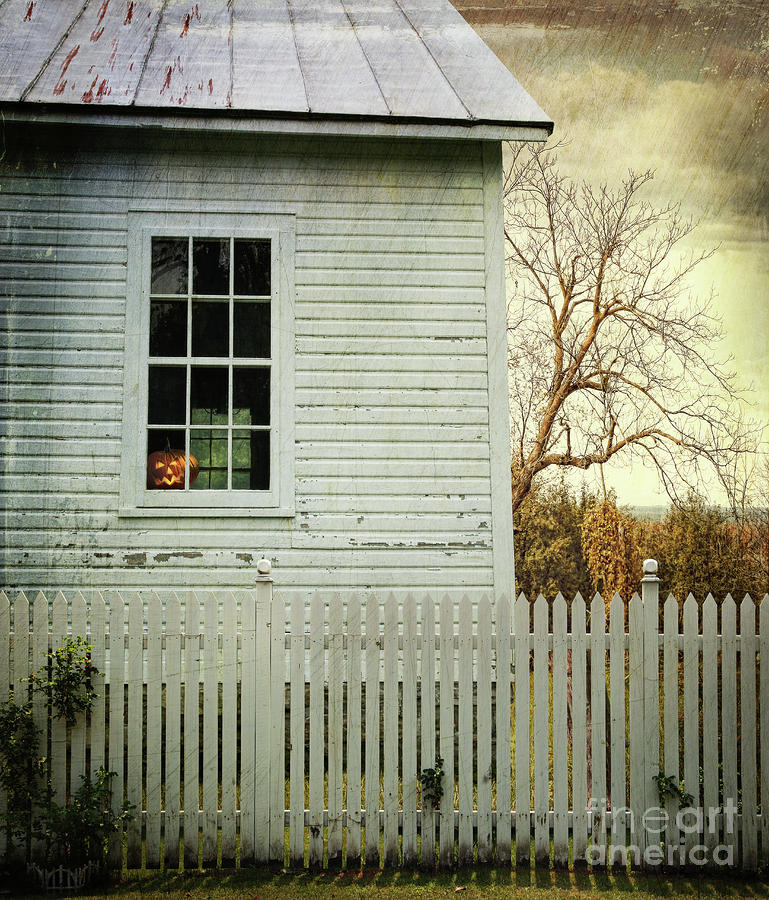 Old Farm  House Window  Photograph
