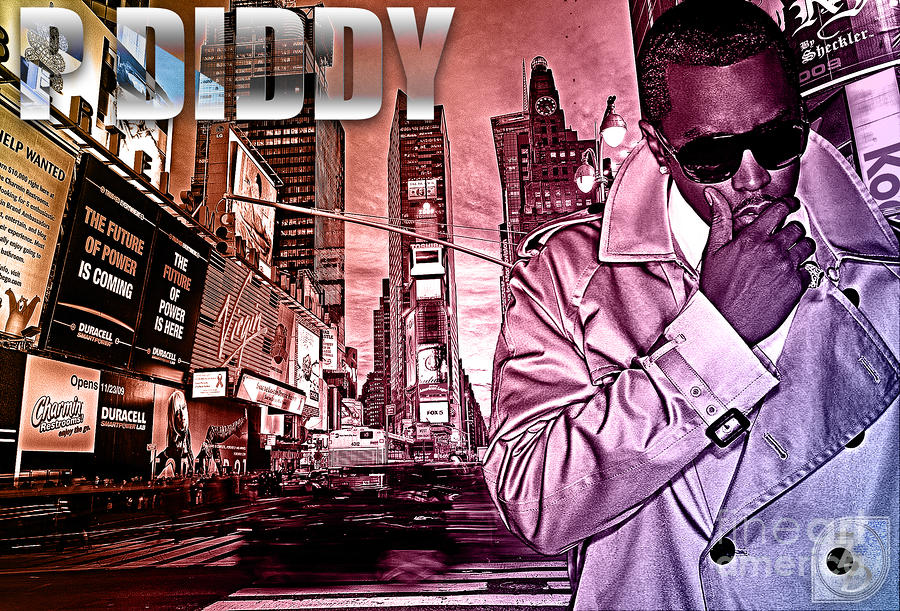 P Diddy Digital Art  - P Diddy Fine Art Print