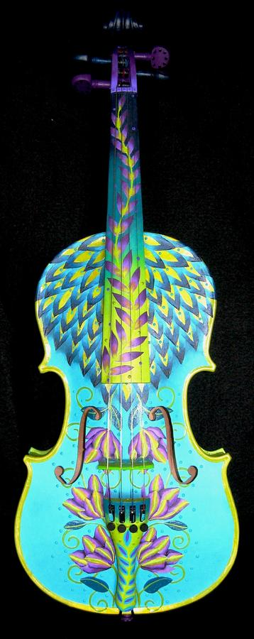 Painted Violin Painting  - Painted Violin Fine Art Print