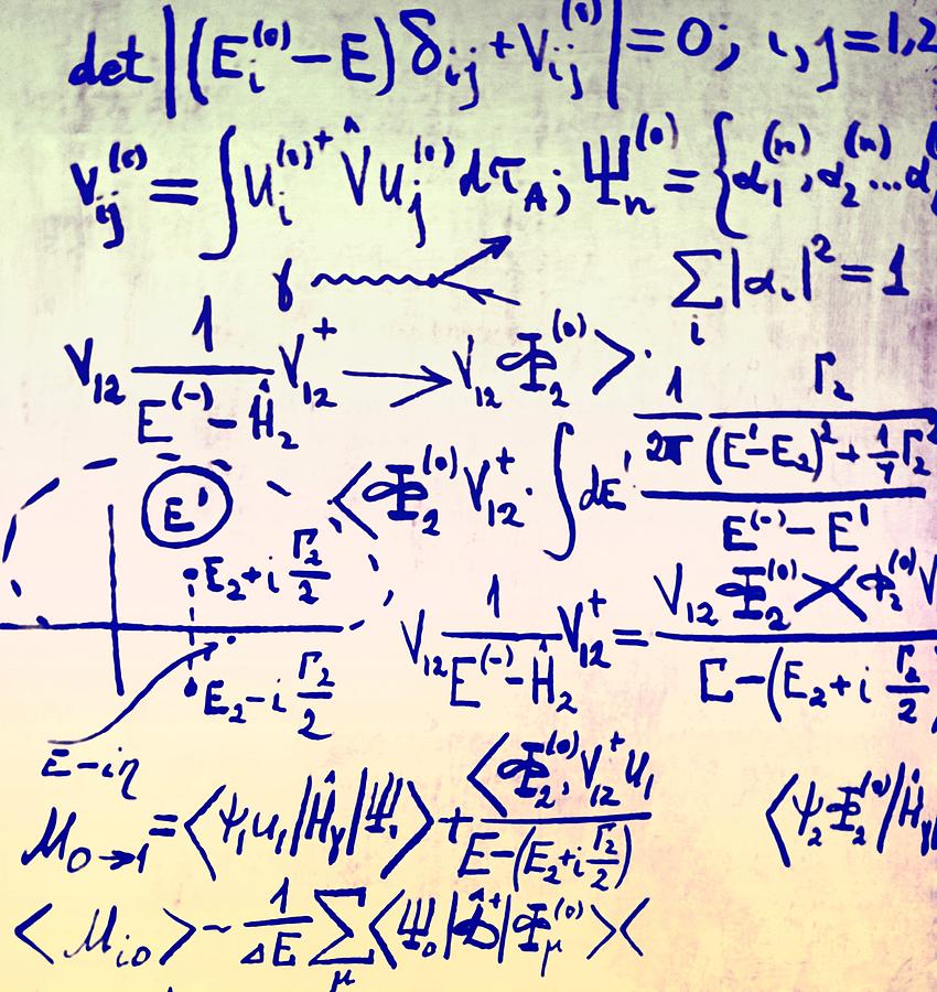 Physics Photograph - Particle Physics Equations by Ria Novosti
