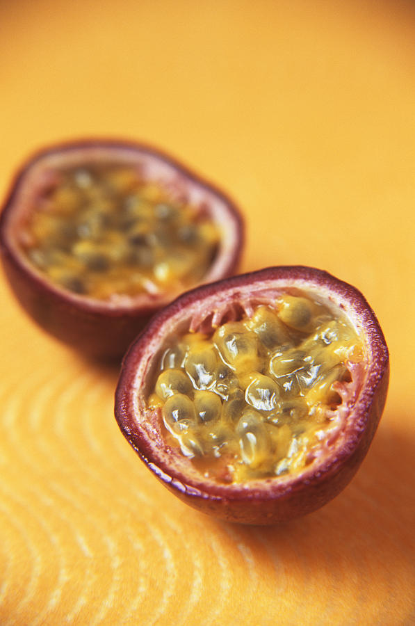 Passion Fruit Halves Photograph