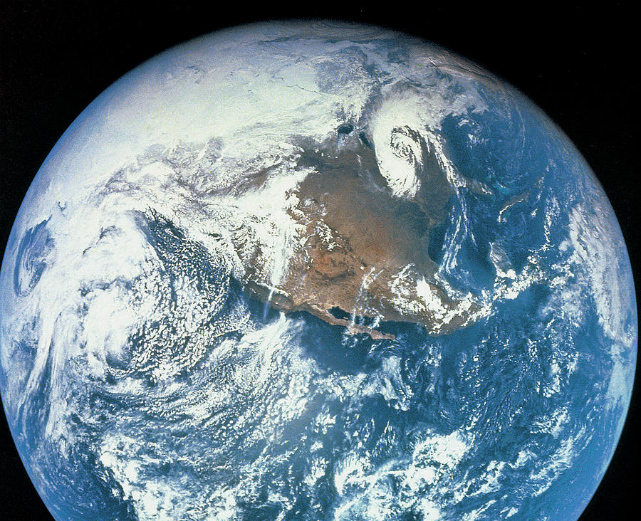 Planet Earth Viewed From Space Photograph