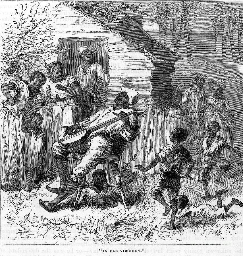 1876 Photograph - Plantation Life by Granger
