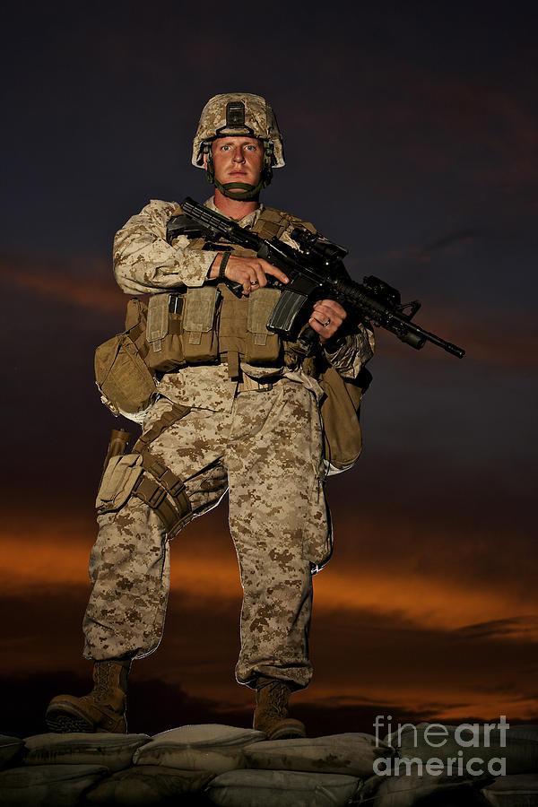 Portrait Of A U.s. Marine In Uniform Photograph