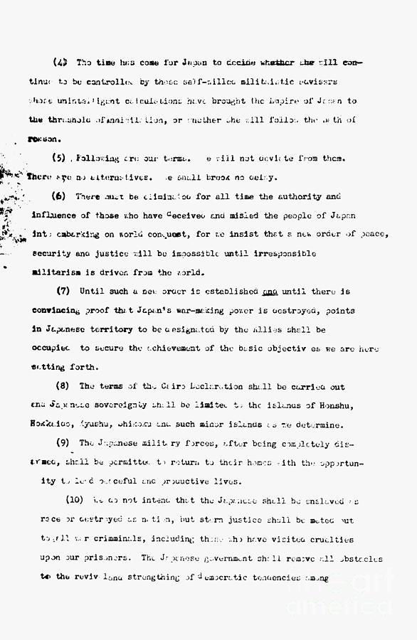 Harry s Truman Thesis Statement ?