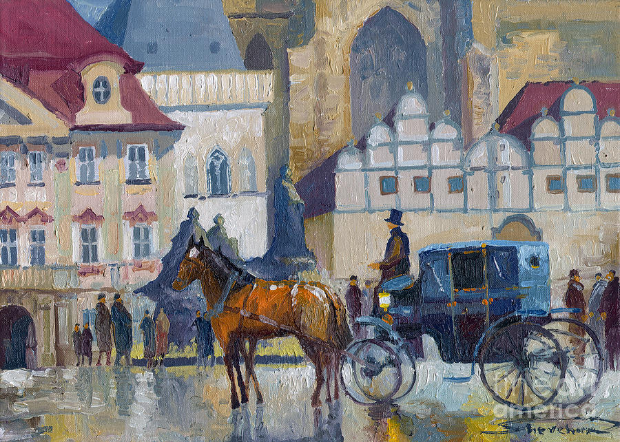Prague Old Town Square 01 Painting