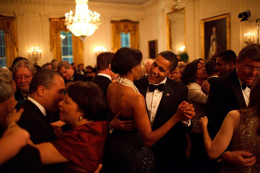 President And Michelle Obama Dance Photograph