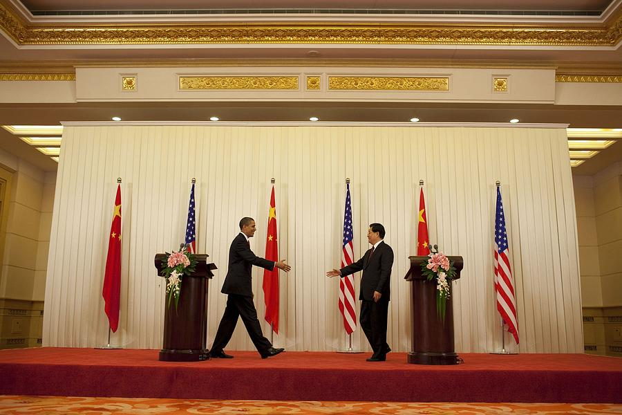 President Obama And Chinese President Photograph  - President Obama And Chinese President Fine Art Print