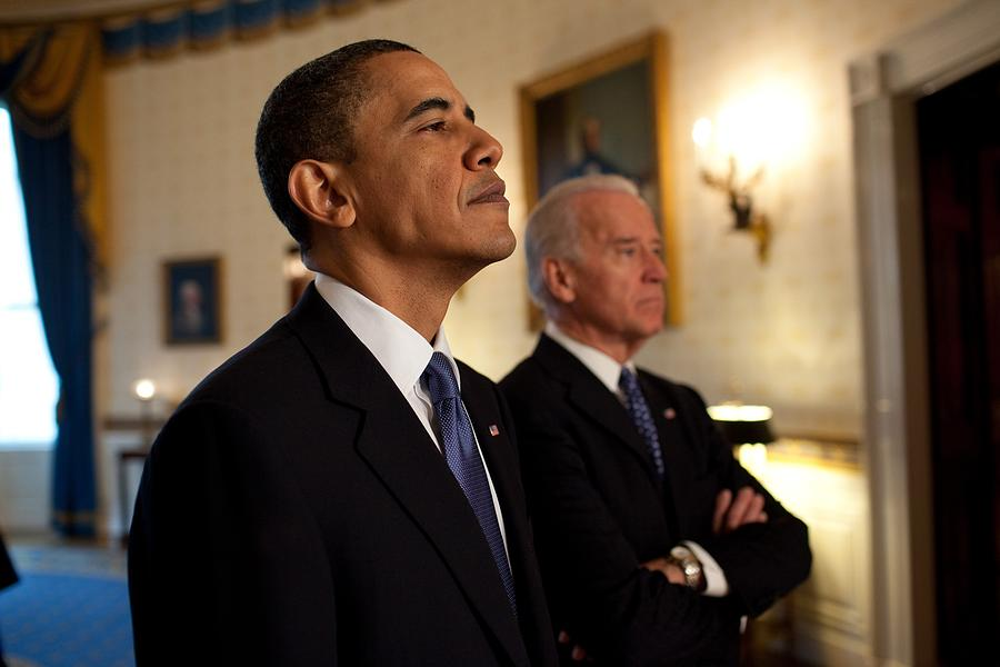 President Obama And Vp Biden Photograph