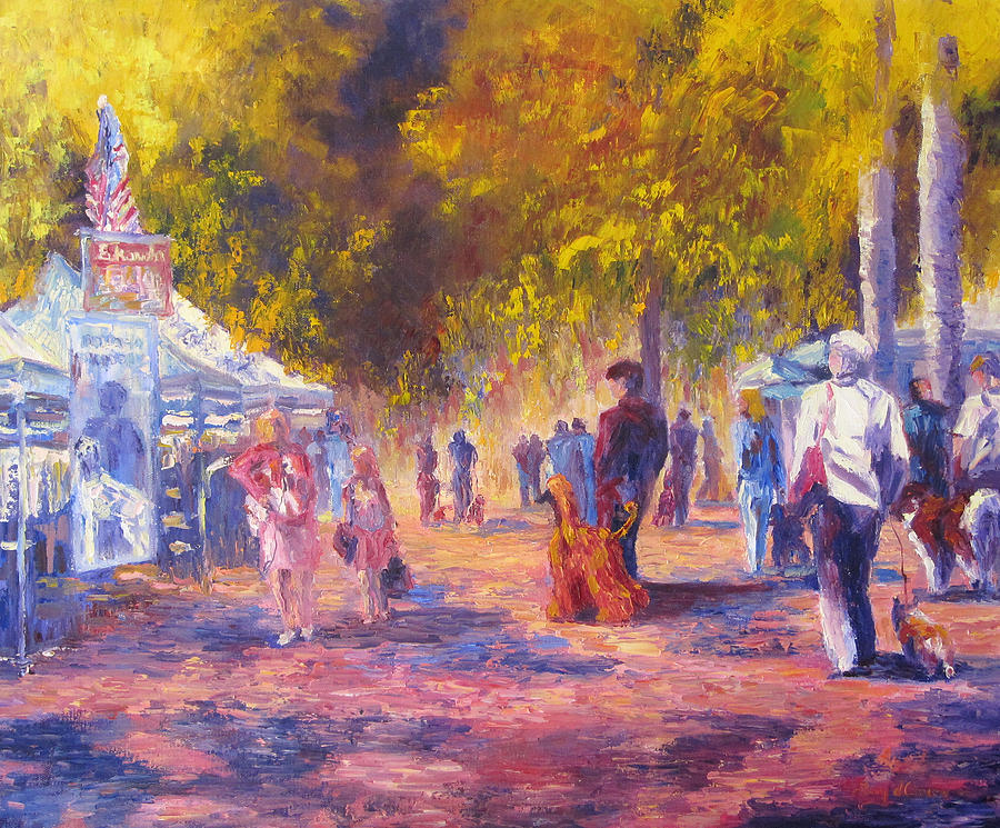Dog Show Scene Painting - Promenade by Terry  Chacon