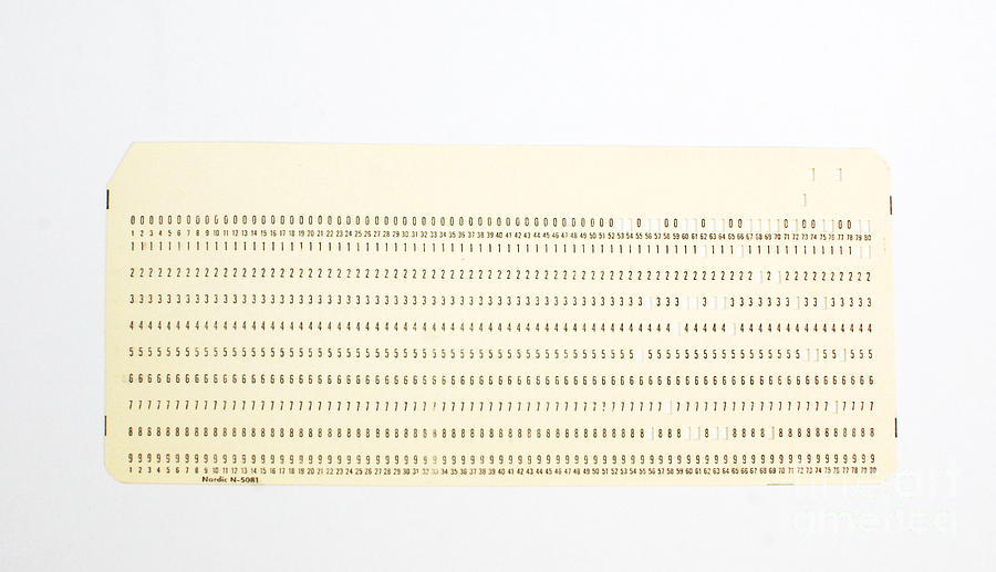 Punch Card Photograph
