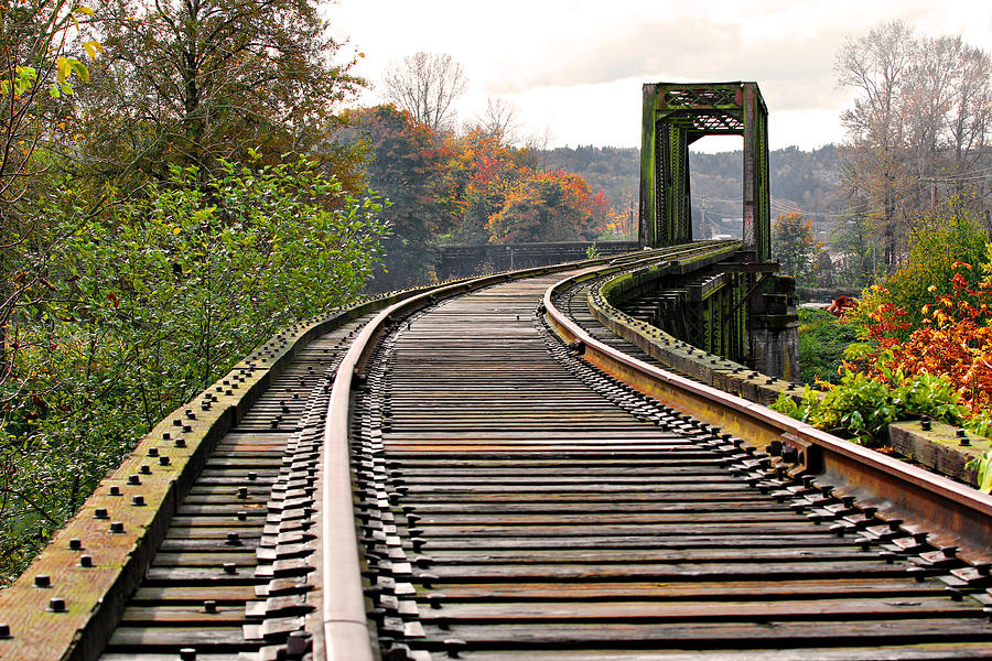 Curtain track cover - Railway Track Is A Photograph By Paul Fell Which Was Uploaded On