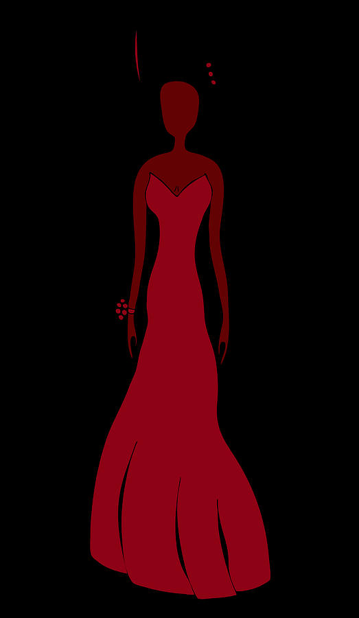 Red Dress Drawing
