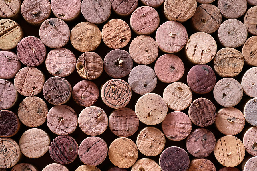 Red Wine Corks Photograph