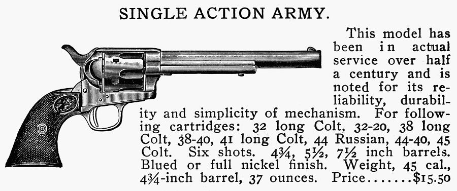 19th Century Photograph - Revolver, 19th Century by Granger