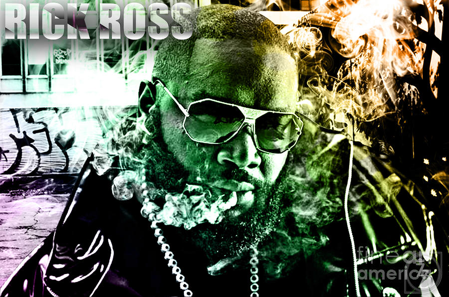 Rick Ross Digital Art  - Rick Ross Fine Art Print