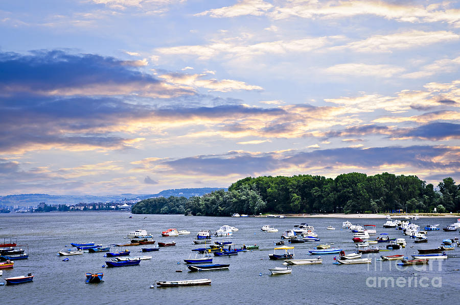 River Boats On Danube Photograph