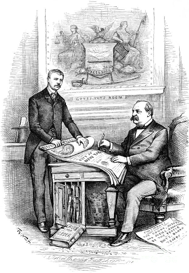 Roosevelt Cartoon, 1884 Photograph