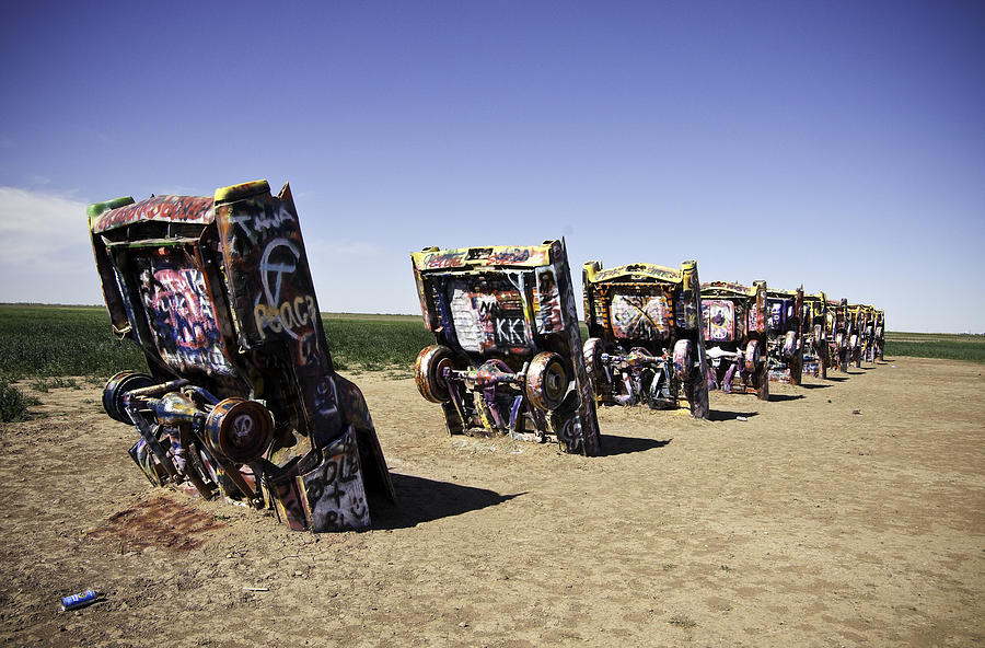 Rt 66 cadillac ranch photograph by paul plaine for Troy motor mall cadillac