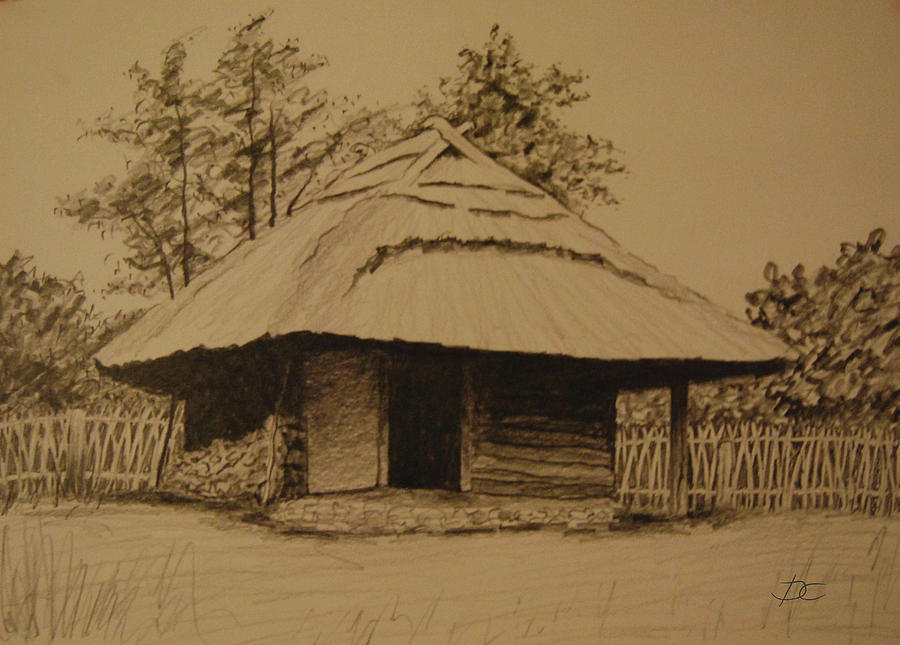 Rumsiskes Village Drawing  - Rumsiskes Village Fine Art Print