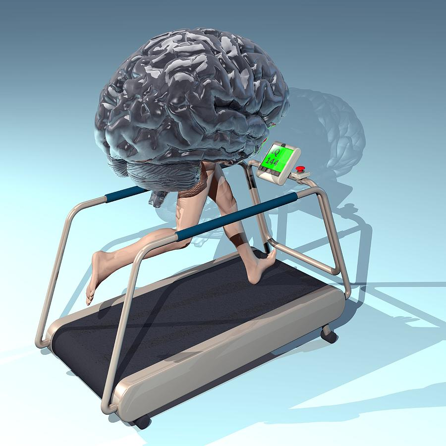 Running Brain, Conceptual Artwork Photograph