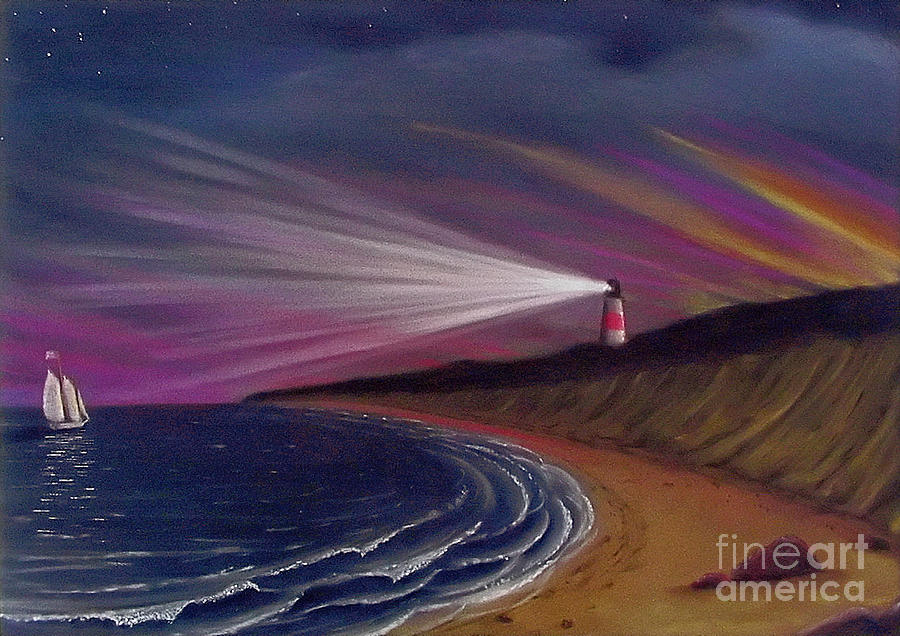 Sankaty Head Lighthouse Nantucket Painting  - Sankaty Head Lighthouse Nantucket Fine Art Print