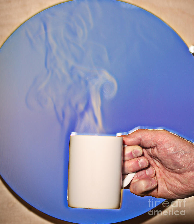 Schlieren Image Of Hot Coffee Cup Photograph