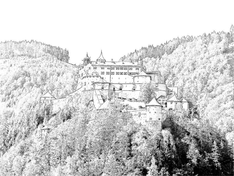 Schloss Hohenwerfen Werfen Austria Photograph