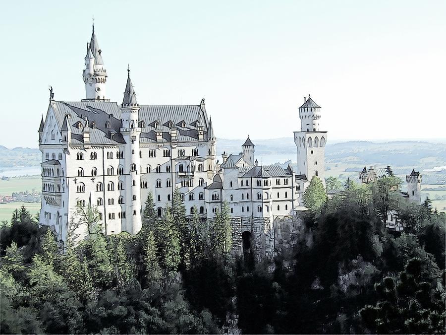 Schloss Neuschwanstein Germany Photograph