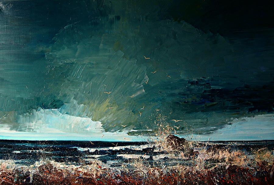 Sea Painting - Sea... by Justyna Kopania