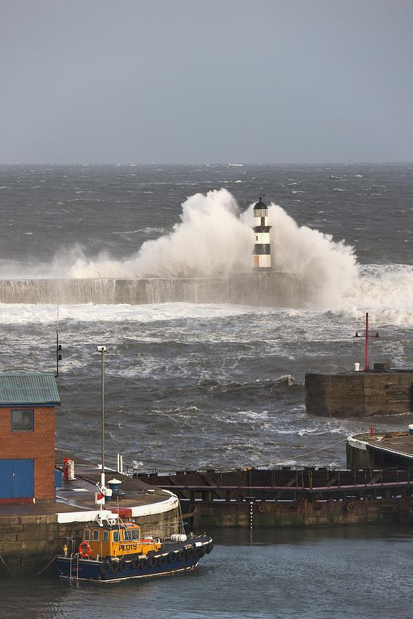Seaham, Teesside, England Waves Photograph