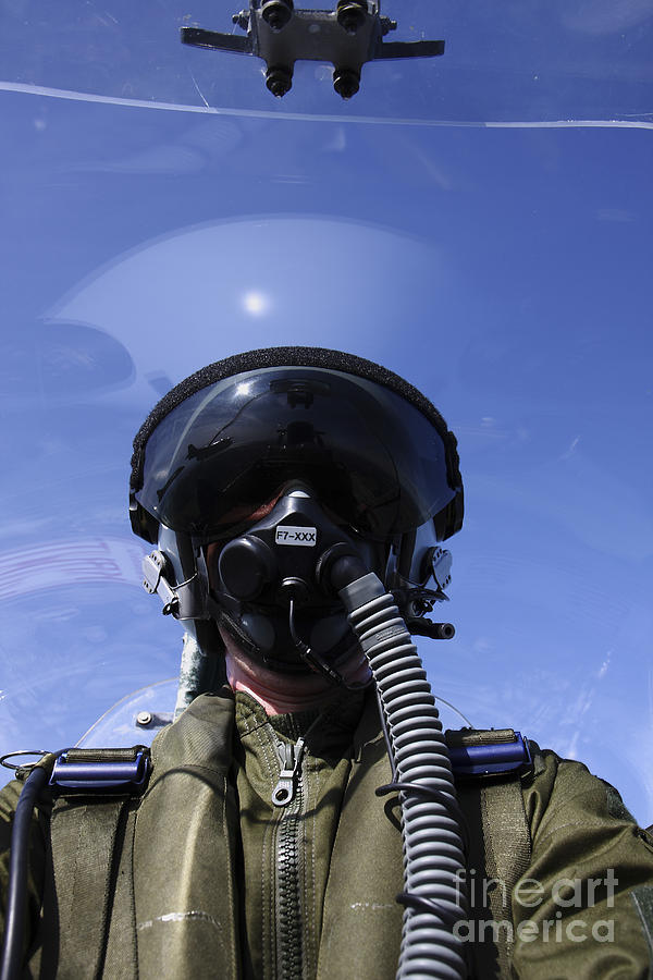 Self-portrait Of A Pilot Flying Photograph  - Self-portrait Of A Pilot Flying Fine Art Print