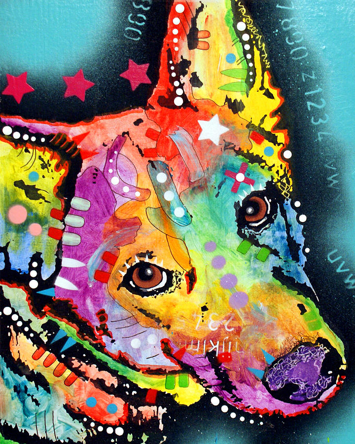 Shep by dean russo for Art print for sale