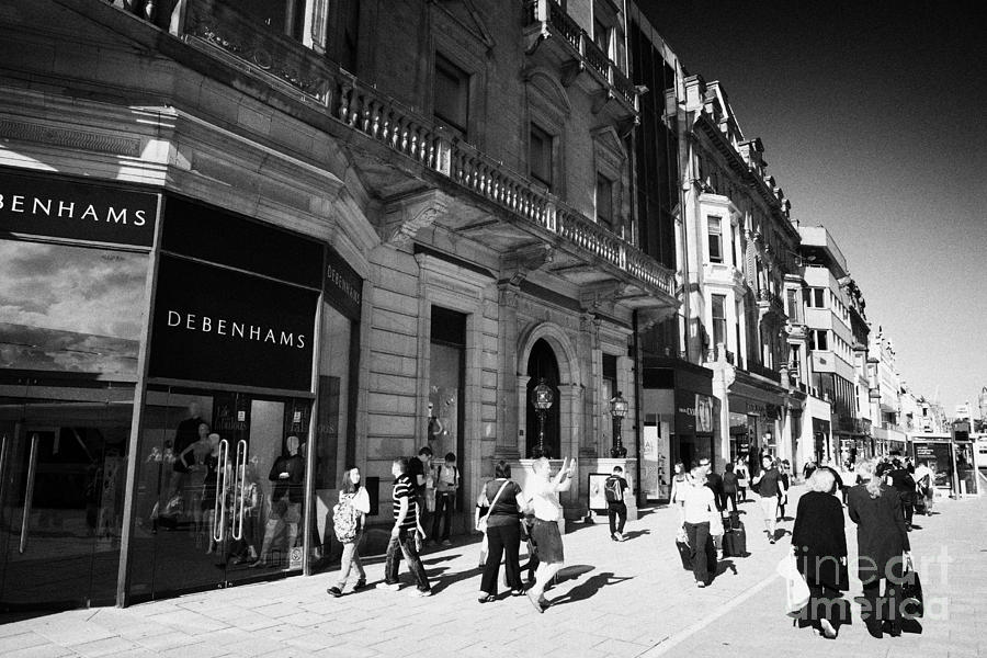 Shoppers And Tourists On Princes Street Edinburgh Scotland Uk United Kingdom Photograph