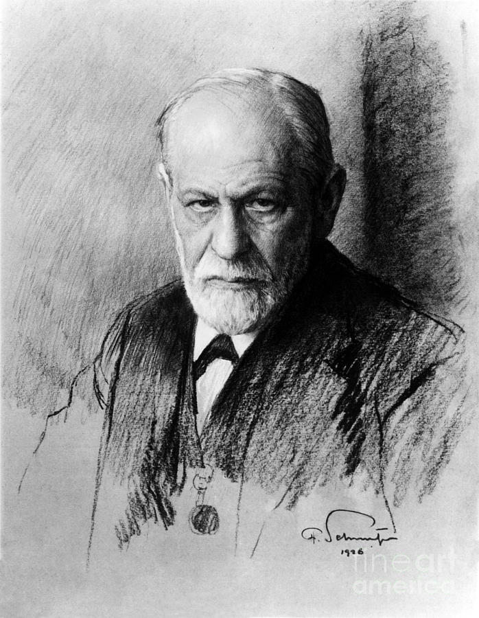 Sigmund Freud, Father Of Psychoanalysis Photograph  - Sigmund Freud, Father Of Psychoanalysis Fine Art Print
