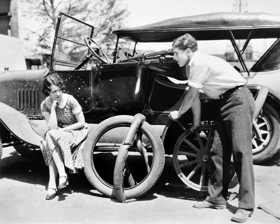 Silent Film: Automobiles Photograph