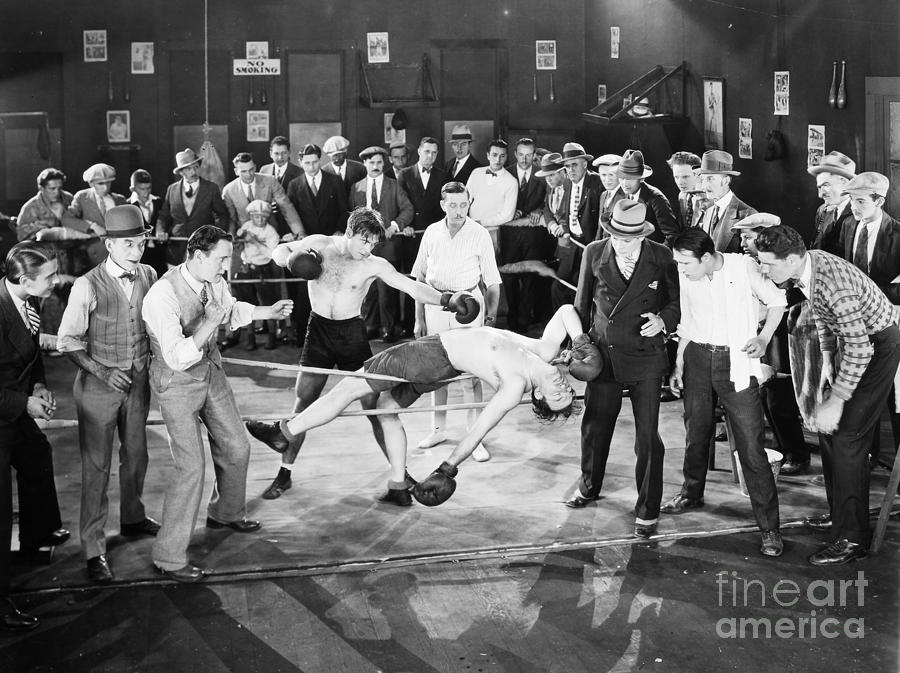 Silent Film Still: Boxing Photograph