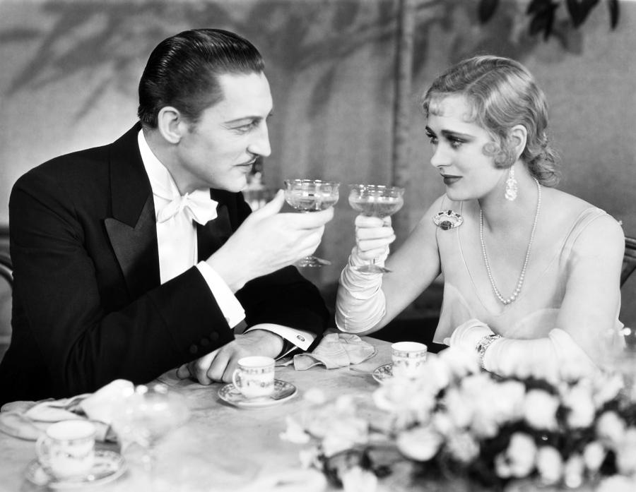 Silent Film Still: Drinking Photograph  - Silent Film Still: Drinking Fine Art Print