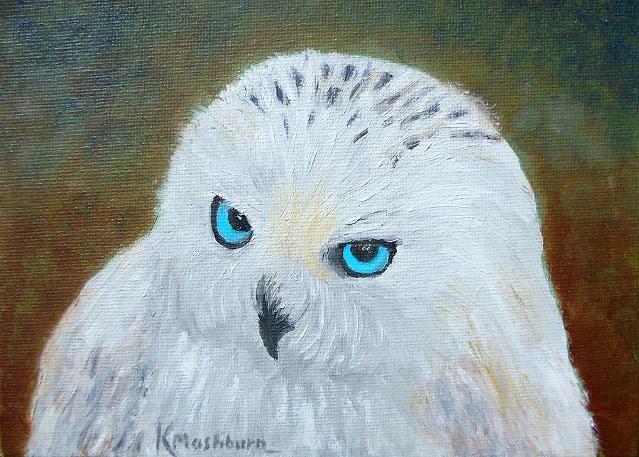Snowy Owl Painting by Kay Mashburn